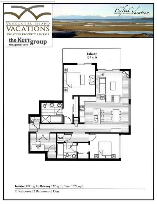 Floor Plan for Oceanfront Luxury Condo along Parksville Beach